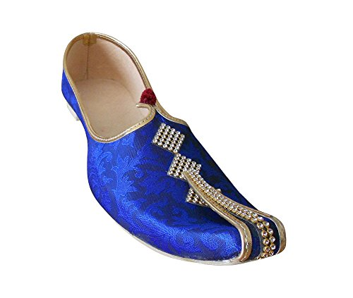 Kalra Creations Herren Traditionelle Indische Seide Hochzeit Schuhe