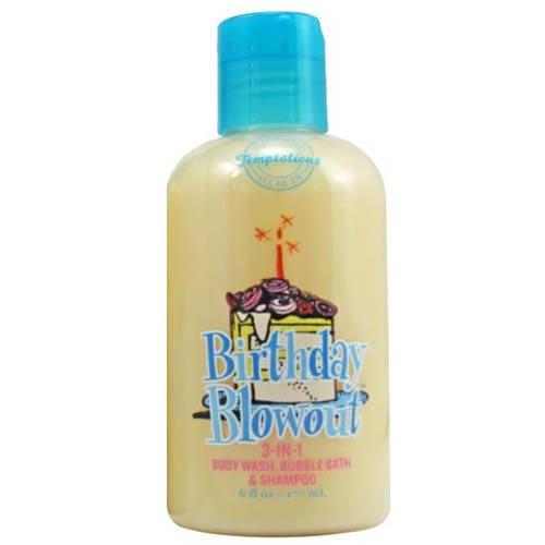 Frosting Chocolate Body - Bath & Body Works Temptations Birthday Blowout 3 in 1 Body Wash, Bubble Bath, Shampoo Travel Size 6 fl oz (177 ml)