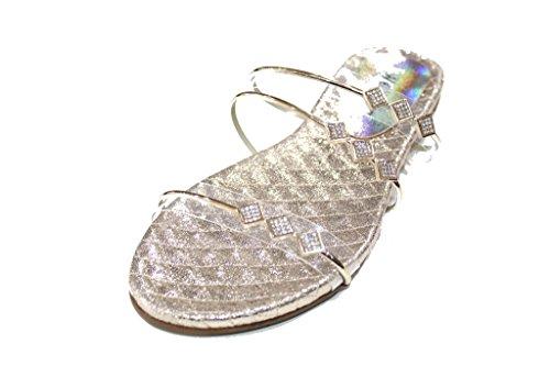 Wear & Walk UK - Sandalias de vestir de Material Sintético para mujer 42 dorado
