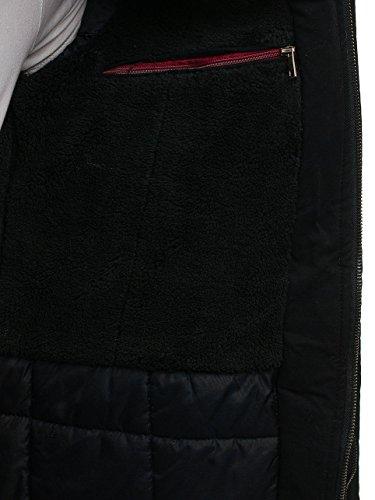 Nero Con Tipo Uomo Stile Bolf Parka Giubbotto Invernale Allungata Da – Street Cappuccio 4d4 UwtxqZFO