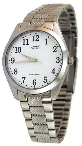 CASIO 19279 MTP-1274D-7B - Reloj Caballero cuarzo brazalete metálico dial blanco