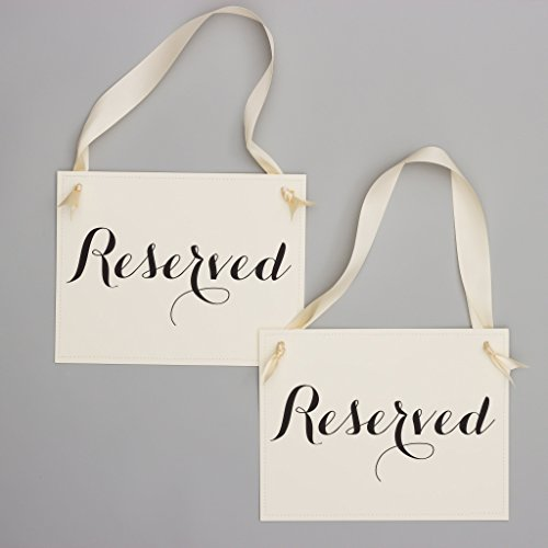 Set of 2 Reserved Chair Signs for Wedding Ceremony or Party | Event Seating Reusable ()