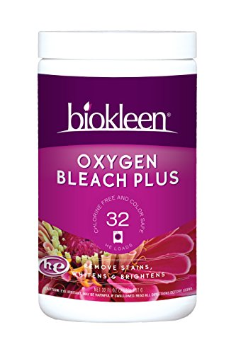 Biokleen Laundry Oxygen Bleach Plus, Concentrated, Stain Remover, Whitens, & Brightens, Eco-Friendly, Non-Toxic, Plant-Based, No Artificial Fragrance, 2 Pounds - 32 HE Loads (Pack of 12)