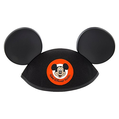 Walt Disney World Mickey Mouse Classic Black Patch Ears Hat Adult Size -