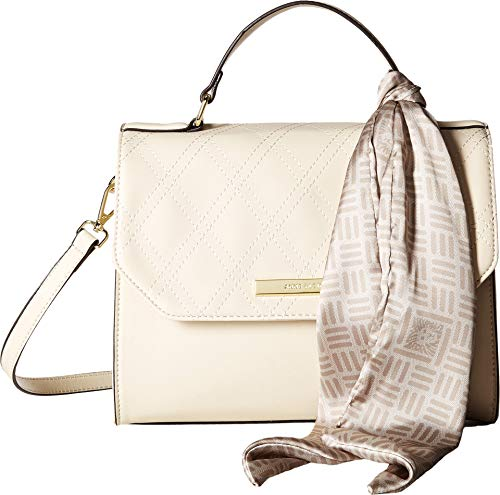 Anne Klein Women's Argyle Top-Handle Satchel w/Logo Scarf Cashmere One ()