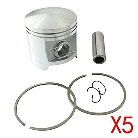 Genérico 5 * Set de 58 mm pistón Segmento broche Clips Kit para ...