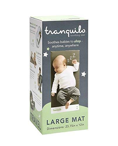 Tranquilo Mat, Large: Vibrating Baby Mat Aides in Calming Fussy Baby for Easier Sleep - Soother Pad is Great Solution to Help Baby Sleep in The Crib, Large: Infant: 0-12 Months