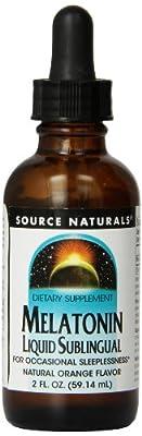 Source Naturals Melatonin Liquid Sleep Support, Orange Flavor - 2 Fluid Ounces