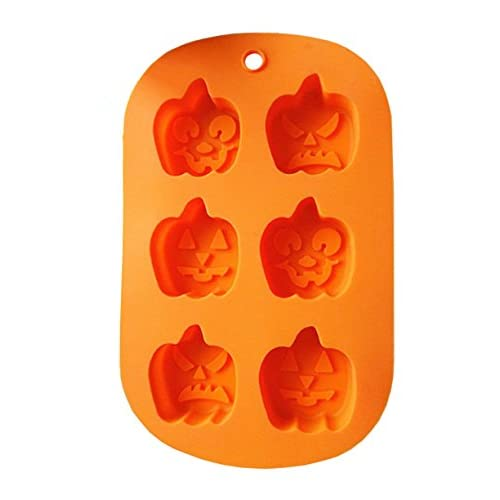 Yunko Halloween Pumpkin Silicone Baking Mold Cake Pan Cookie Pan Pudding Mold Jelly Mold
