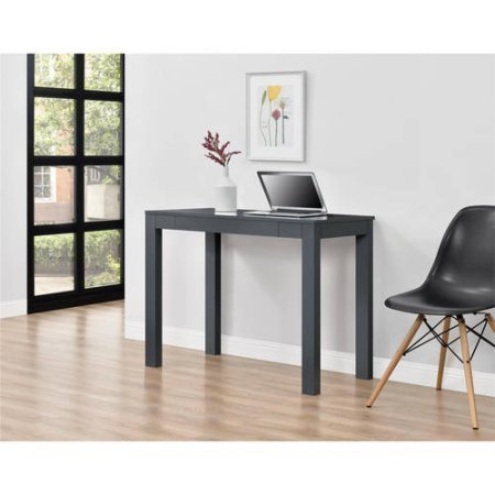 Mainstays Furniture NEW Parsons Desk with Drawer, Multiple Colors (Gray) by Mainstays Furniture