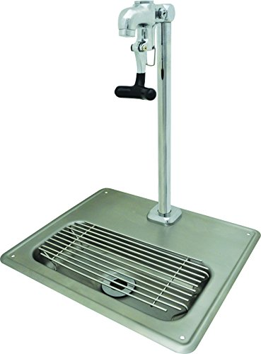 BK Resources BK-WS-1SGF-G Stainless Steel Glass Filler Water Station with Faucet, Silver