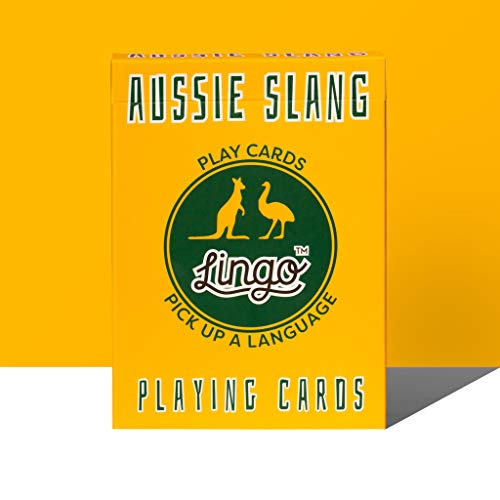 Lingo Slang Playing Cards | Language Learning Game Set | Fun Visual Flashcard Deck to Increase Vocabulary and Pronunciation Skills (Aussie Slang)