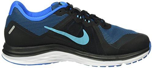 Nike Wmns Dual Fusion X 2, Scarpe Da Corsa Da Donna Nere (nero / Gamma Blu-pht Bl-bianco)