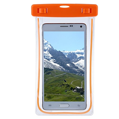 Baosity Durable PVC Roll Top Dry Bag Swimming Tow Float + Waterproof Phone Case For Open Water Swimmers and Triathletes - Orange by Baosity (Image #8)
