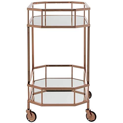 Safavieh BCT8004A Silva Bar Cart, Rose Gold/Mirror by Safavieh (Image #3)
