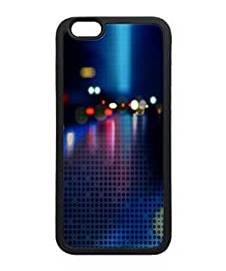VUTTOO Iphone 6 Plus Case, Neon Bokeh Halftone Pattern Snap-On TPU TPU Black Bumper Case for Apple Iphone 6 Plus 5.5 Inch