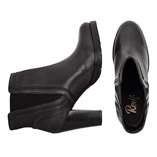 Black Scoop Redfoot Boot Gusset Ladies Ankle nCx5Tx
