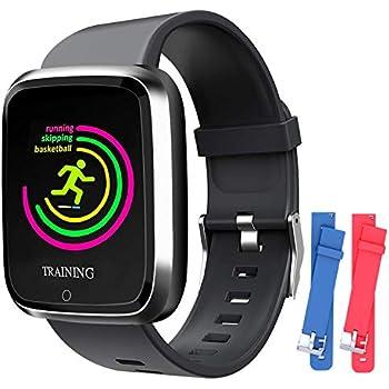 Amazon.com: Reloj inteligente con SMS/ID de llamada, IP67 ...