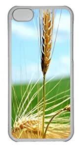 iPhone 5C Case Cover - ripe wheat ears Custom PC Hard Case Back Cover for iPhone 5C - Transparent