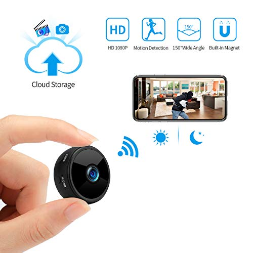 Mini Spy Camera Wireless Hidden Camera WiFi JOYTRIP HD 1080P for Home Security Portable Nanny Cams with Cell Phone APP Cloud Storage Motion Detection Night Vision for iOS Android Upgraded-A11pro