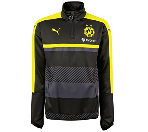 2016-2017 Borussia Dortmund Puma Half Zip Training Top (Black) -
