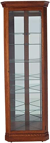 Howard Miller Drake Curio Cabinet, Legacy Oak