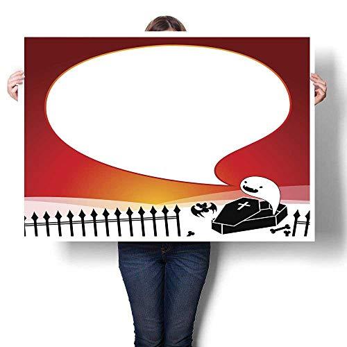 Anyangeight Canvas Prints Wall Art Halloween Party Invite Decorative Fine Art Canvas Print Poster K 32
