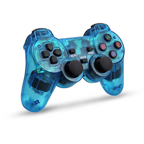 Wireless Controller Double Vibration Gamepad for Sony PS2 Playstation 2 (Controller 2 Remote Playstation)