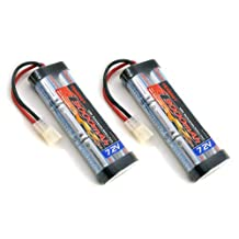 2 pcs Tenergy 7.2V 3000mAh Flat NiMH High Power Battery Packs with Tamiya Connectors for RC Cars