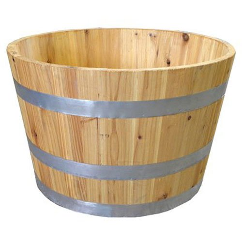 Used, Real Wood Products G3054 Half Wine Barrel for sale  Delivered anywhere in USA