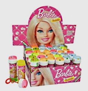 2Stück Flasche Seifenblase Barbie 120ml Spielzeug NF