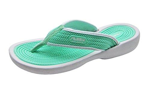 Luft Elegant Gullig Färgrik Kvinnors Dusch Strand Sandal Tofflor Flip Flops I Glada Färger Mint