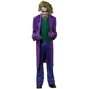 Mens Adult ~ Batman Arkham City White Rogues Joker Fancy Dress Costume Medium