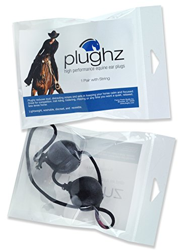 (Plughz Equine Ear Plugs, 1 Pair with Cord)