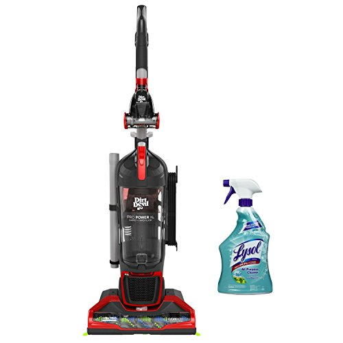 Dirt Devil Power Max XL Bagless Upright HEPA Filtration Vacuum with Lysol All Purpose Cleaner