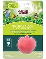 Living World Mineral Block, Apple for Parakeets, 35 Grams