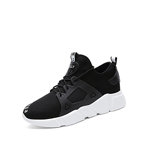 Zapatos de Mujer 2018 Sneakers Casual Knit Ladies Spring, Summer, Fall Zapatillas Casual Athletic Mesh Transpirable Running Shoes Zapatos de Mujer Low-Top Shoes (Color : Negro, tamaño : 39)