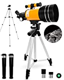 Space Astronomical Telescope, Professional 150X 90X 45X Kids Telescopes 70mm Refractor Telescope for Kids with Tripod Educational Toys for Astronomy Beginners Children Educational and Gift