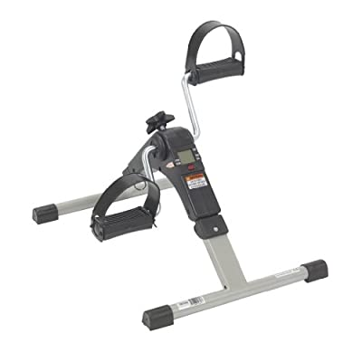 10273 Drive Medical Deluxe Folding Exercise Peddler with Electronic Display , Black from Drive Medical