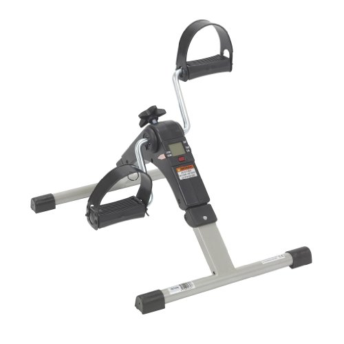 Drive Medical Deluxe Folding Exercise Peddler with Electronic Display , Black Model # RTL10273 (Best Stationary Bike For Knee Replacement Rehab)