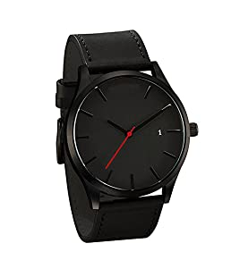 Etbotu Quartz Watch with Leather Watch Strap, Business Casual Style for Men