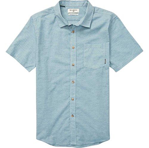 Billabong Men's All Day Helix Short Sleeve Shirt, Washed Blue, (Billabong Blue Shirt)