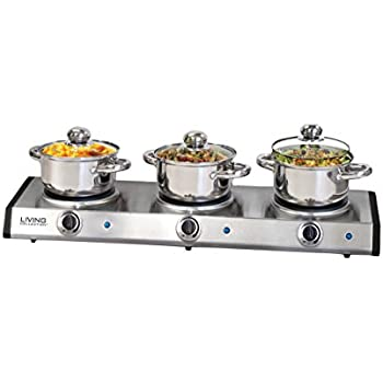 Nostalgia Electrics TDO150SS Slow Cooker Buffet, Stainless Steel