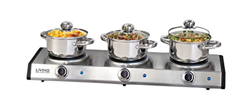 Nostalgia TDO150SS Slow Cooker Buffet, Stainless Steel