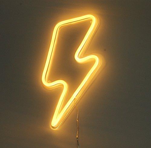 Lightning Bolt Neon Art Sign Lightning LED Neon Signs Handmade ...