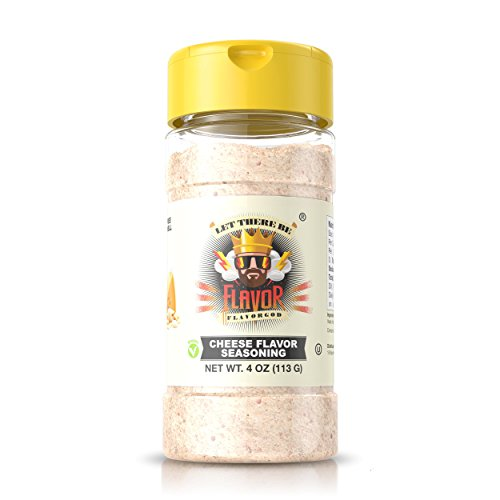(#1 Best-Selling 4oz. Flavor God Seasonings - Gluten Free, Low Sodium, Paleo, Vegan, No MSG (SINGLE SEASONING) (Cheese, 1 Bottle) )
