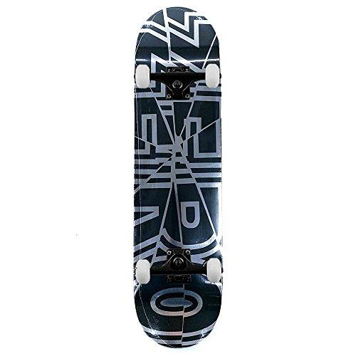 Zero Skateboards Bold Shattered Complete Skatebord Black Silver Foil 8'