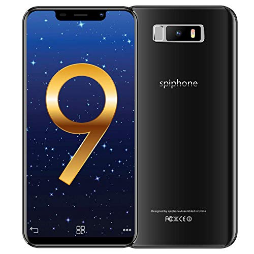 """Price comparison product image spiphone Note 9 Unlocked Smartphone,  32GB ROM+3GB RAM,  5.85"""", 18:9 Full HD Screen,  13+5MP Dual Cameras,  3800mAh Battery,  Dual SIM Unlocked Cell Phone,  Face Unlock (AT&T / T-Mobile) (Black)"""