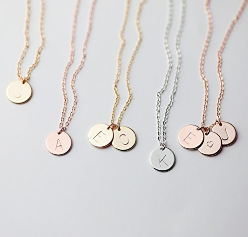 MignonandMignon-Gold-Initial-Necklace-Initial-Disc-Necklace-Mothers-Day-Gift-Bridesmaid-Jewelry-Gift-for-Her