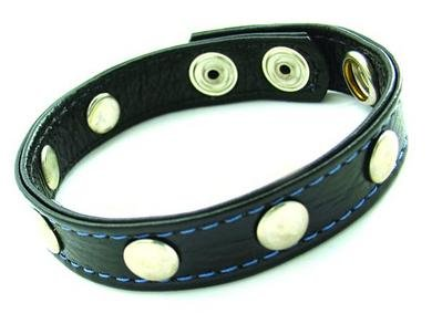 Cock-Ring-Leather-Wrivets-Black